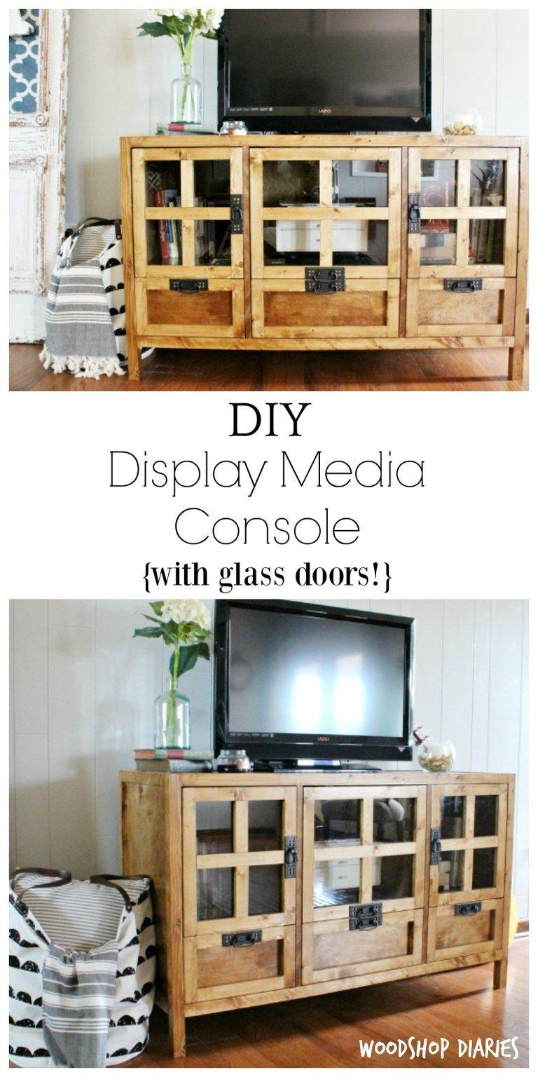 Diy display media console with images diy display tv