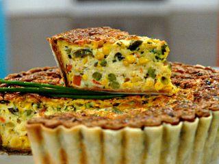Receta tarta de verduras utilisima