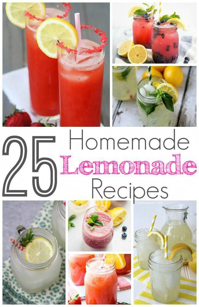 25 Delicious Lemonade Recipes #homemadelemonaderecipes