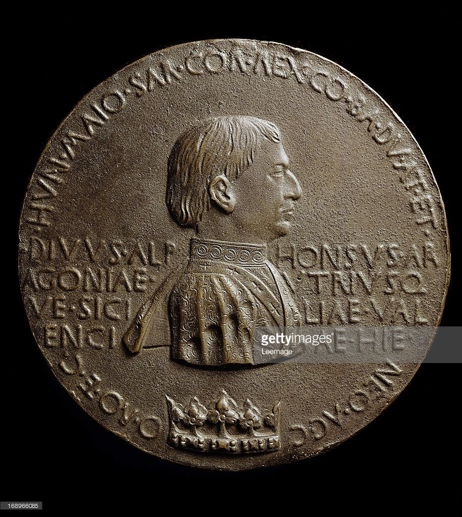 Portrait Medal Of Alfonso King Sicily And Aragon
