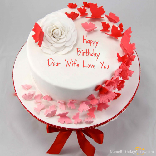 Download Happy Birthday Cake For Wife Suganya In 2019 Butterfly