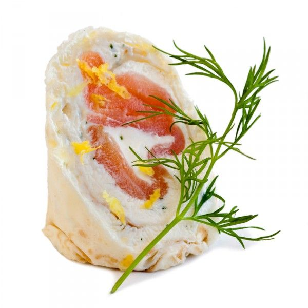 Tasmanian smoked salmon roulade of french crepes chervil for Farcical in french
