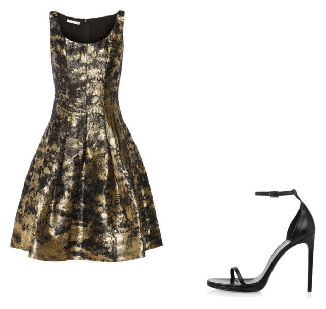 """""""💞"""" by melodyleighmitchell on Polyvore featuring Oscar de la Renta and Yves Saint Laurent"""