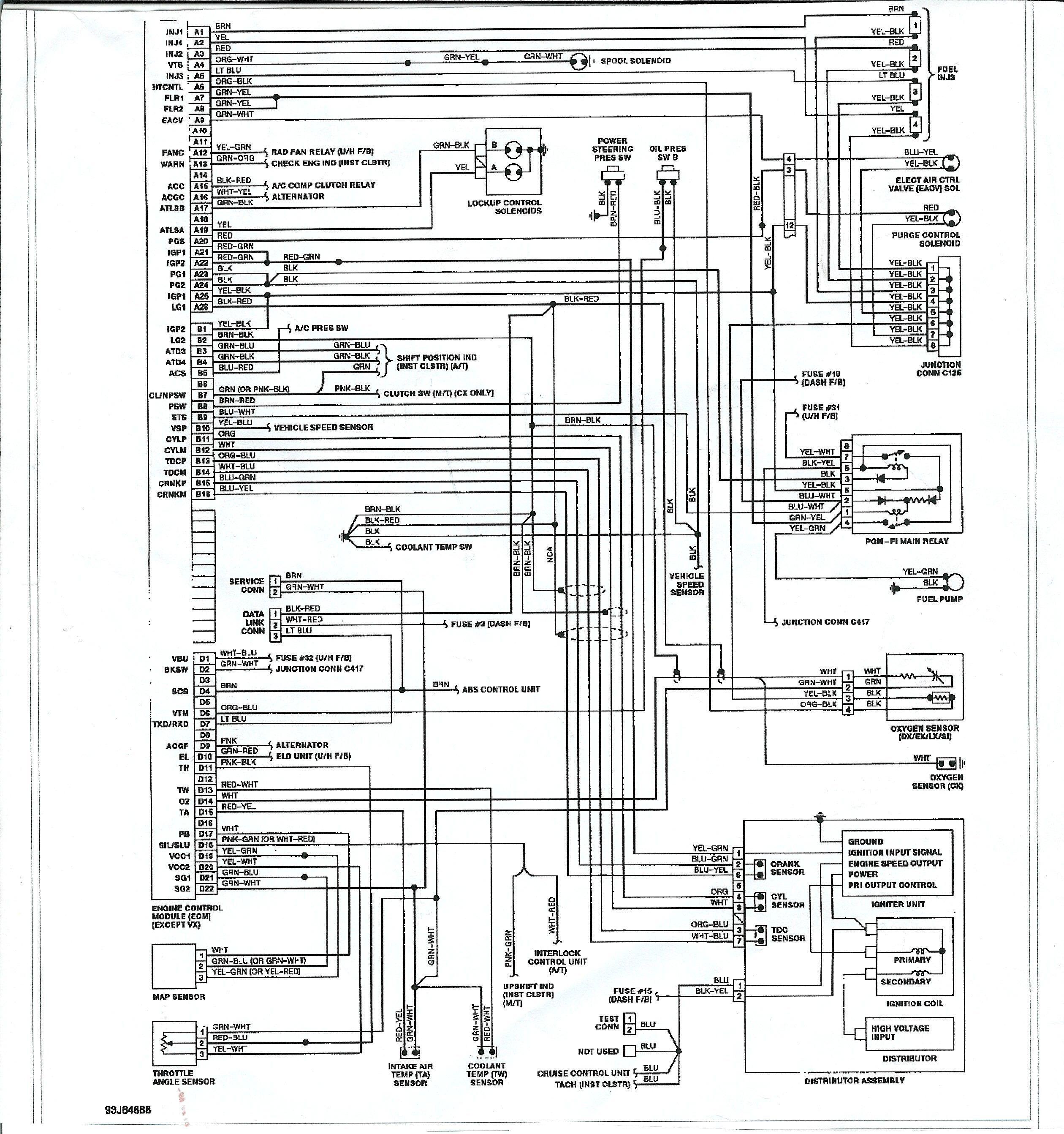 honda civik ek engine wiring diagram in 2021 | honda civic engine, honda  civic, honda accord  pinterest