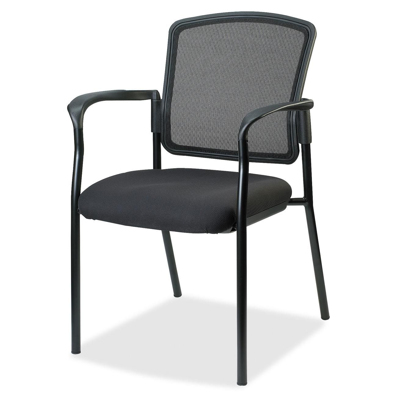 Lorell breathable mesh guest chair black guest chair