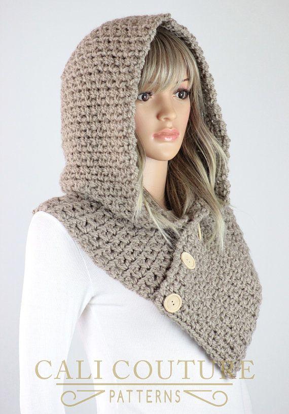 Crochet Hooded Cowl Pattern 35 Geneva Hooded Scarf Pattern Hats