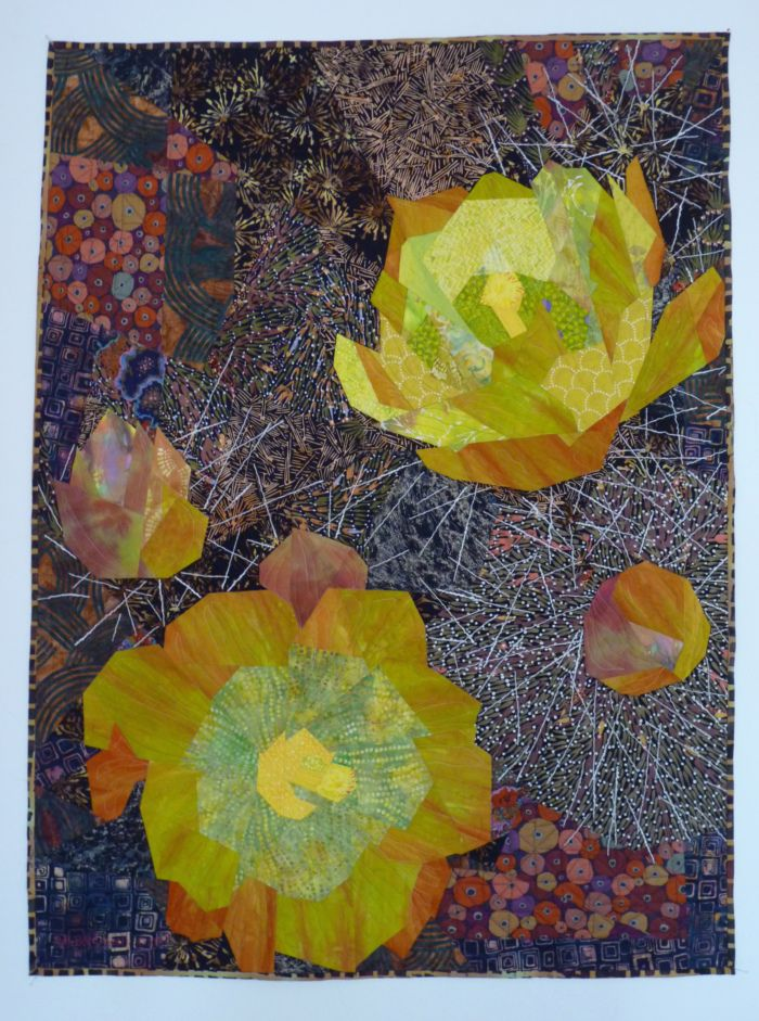 Cactus Flowers by Ruth B Mcdowell | Art Quilts | Pinterest