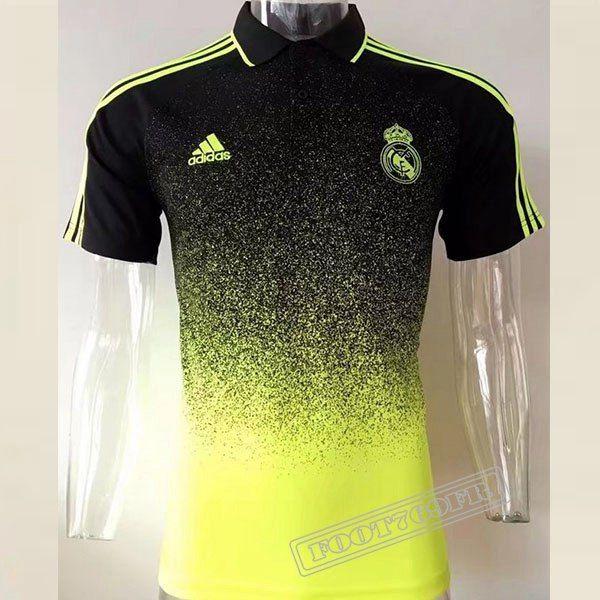 Le Nouveau Chemise Polo Real Madrid Manche Courte JauneNoir