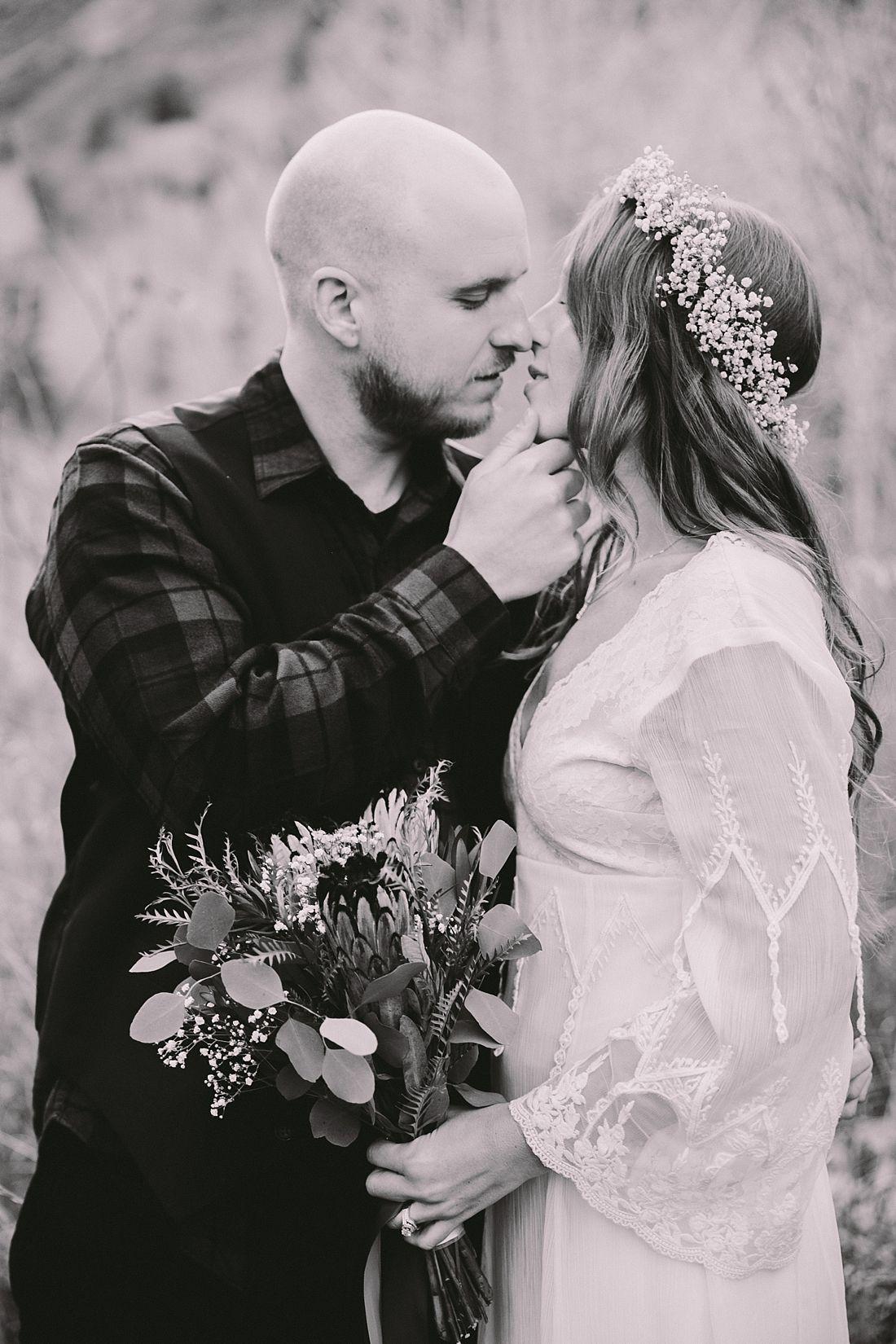 Black and white wedding photography diy sundance boho mountain