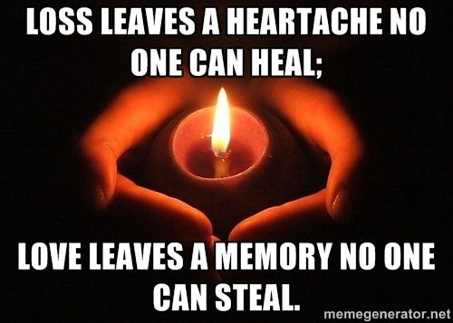 lost loved one memes | Pic of a candle in cupped hands, in ...