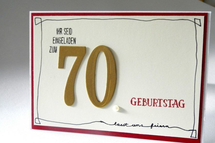 einladung zum 70. geburtstag mit stampin' up! judiths