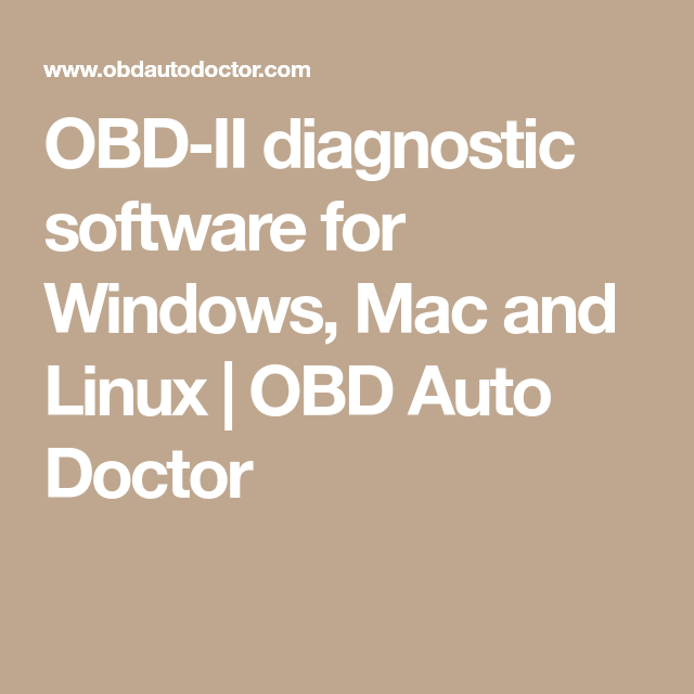 OBD-II diagnostic software for Windows, Mac and Linux | OBD Auto