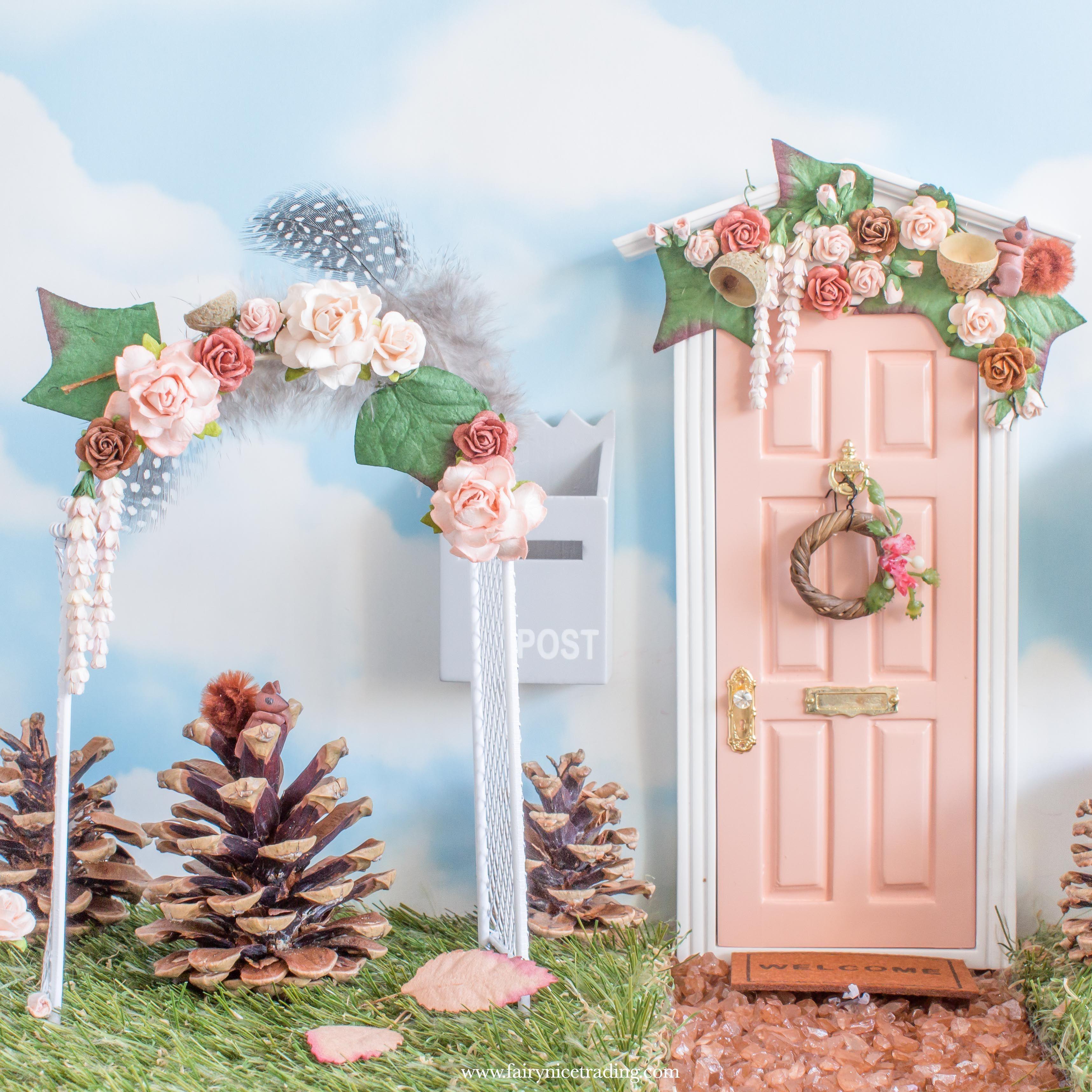 Flower Arch Woodland Fairy Woodland Fairy Fairy Door Accessories Flowers