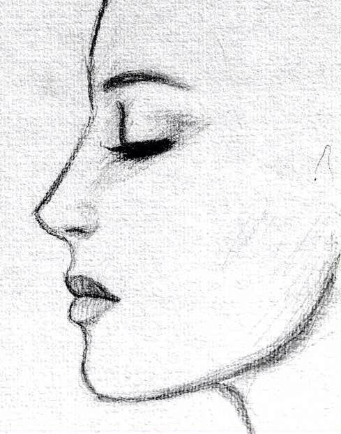 profile drawing coffee painting pinterest profile drawing