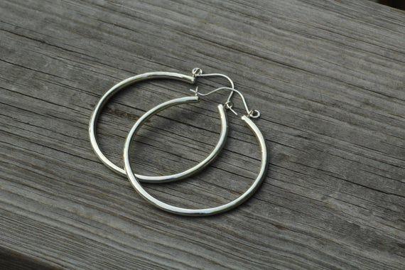 Large Gold Hoop Earrings – Thick Gold Hoop Earrings  – Hoop Earrings – Clasp Hoops – Gold Tubing Hoo