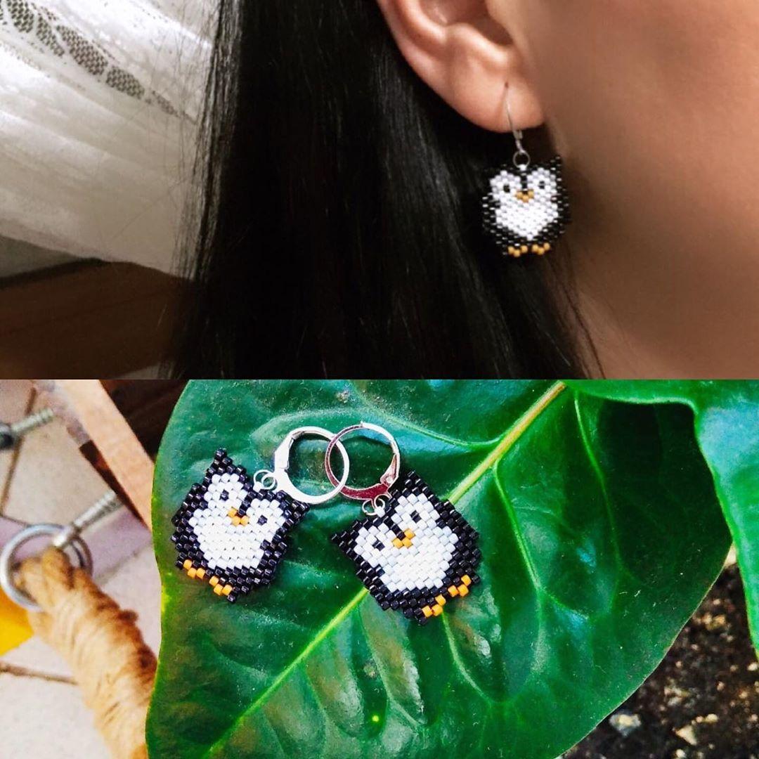Owl earring💫  #jewellery#miyuki#handmade