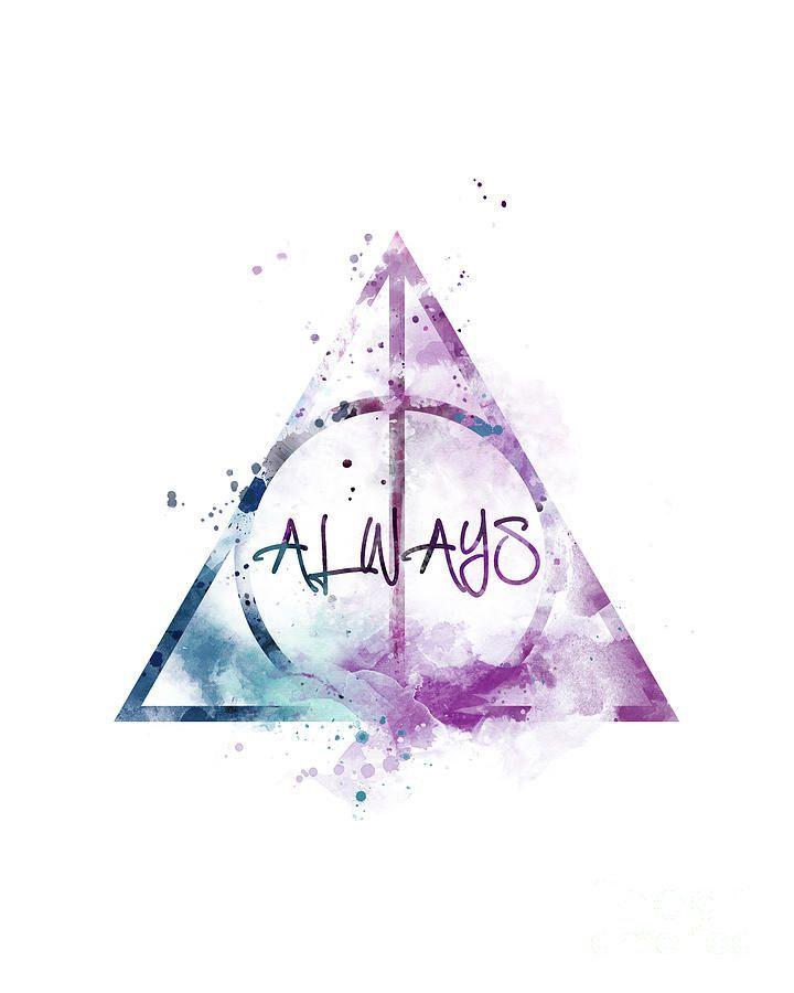 Always Mixed Media By Monn Print Harrypottertattoosquote Harry Potter Poster Harry Potter Tattoos Immer Harry Potter