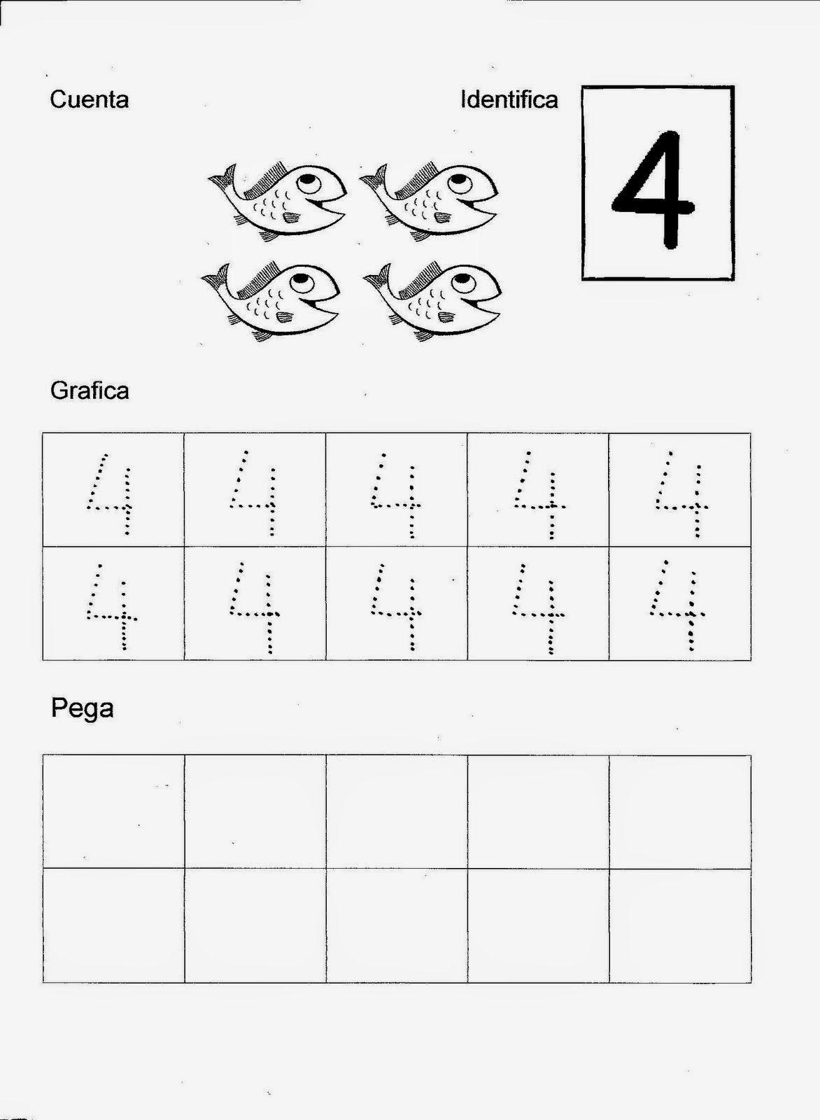 Esos Locos Bajitos De Infantil Fichas De Numeros Matematic