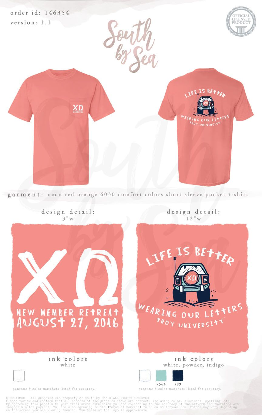 Chi Omega   Chi O   New Member Retreat   Life is Better   Wearing ...