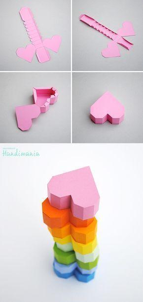 Photo of Geschachteltes geometrisches Herz – DIY Papier Blog