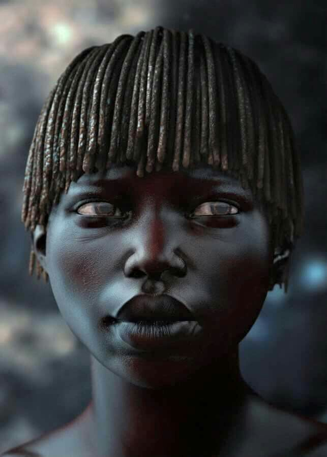 Her skin has been kissed by the sun... melanin love
