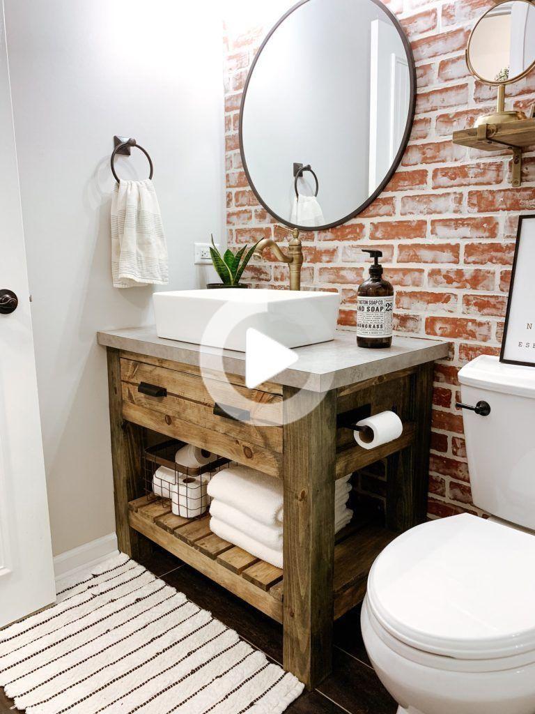 Pin On Decoracion In 2020 Rustic Bathroom Vanities Rustic Bathroom Rustic Bathroom Sinks