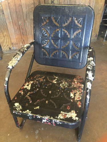 Vintage 1950s Metal Patio Porch Lawn Chair Pie Vintage 1950s Metal Patio Porch Lawn Chair Pie Crust Pattern  . Antique Motel Chairs. Home Design Ideas