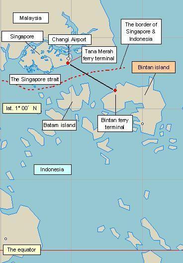 bintan island Bintan Island is 45 kilometers from Singapore by a
