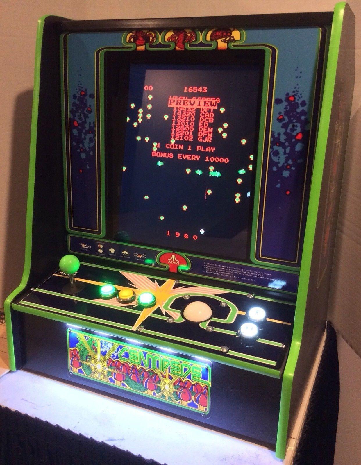 Centipede Bar Top Arcade Machine 60 in 1 Classic Games LED