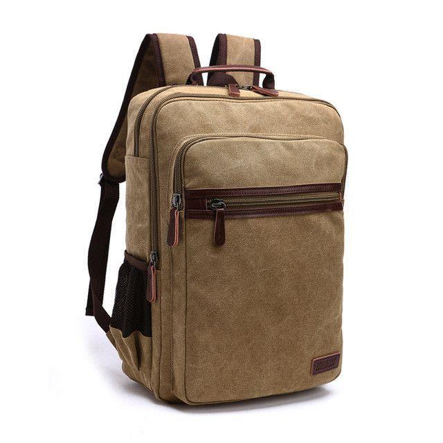 5a2c3fbb9514 New Fashion Shoulder Strap Zipper Solid Casual Bag Male Backpack School Bag  Canvas Bag Designer Laptop Backpacks For Men DB75