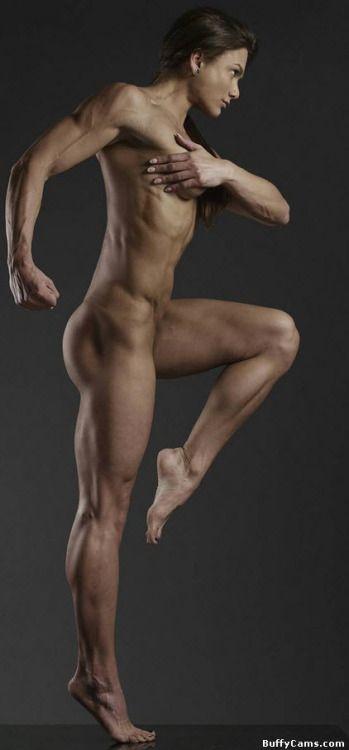 Fitness models posing nude