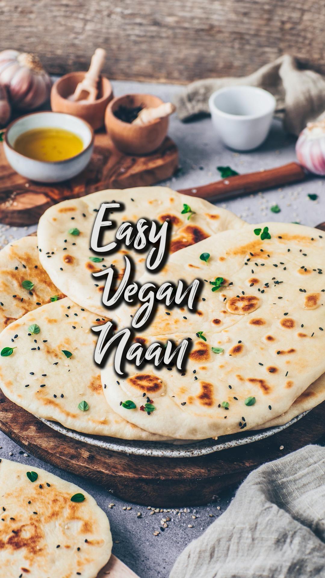Vegan Naan Bread Easy Homemade Flatbread Bianca Zapatka Recipes Video Recipe Video In 2020 Naan Bread Vegan Naan Recipes