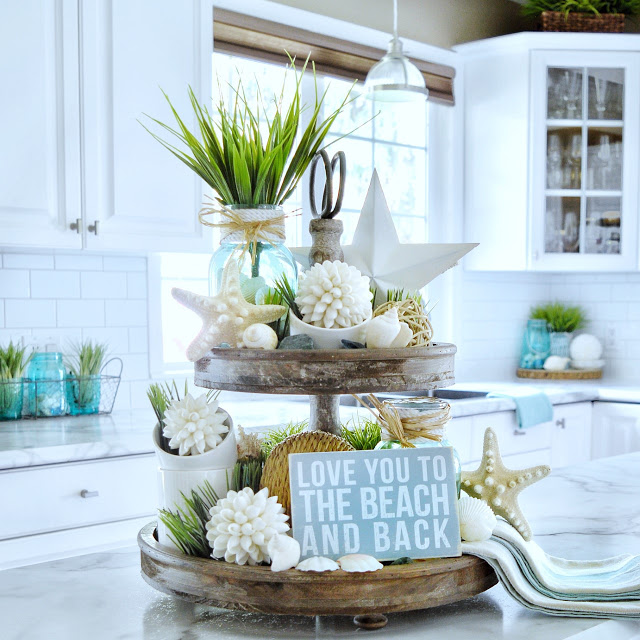Photo of Tiered Tray with Beach Decor & More Tray Ideas