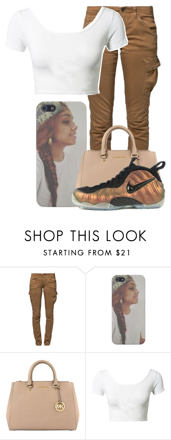 """""""School~~Girls"""" by our-dopest-anons ❤ liked on Polyvore featuring G-Star Raw, MICHAEL Michael Kors, Club L, NIKE and ourdopestanonsgirls"""