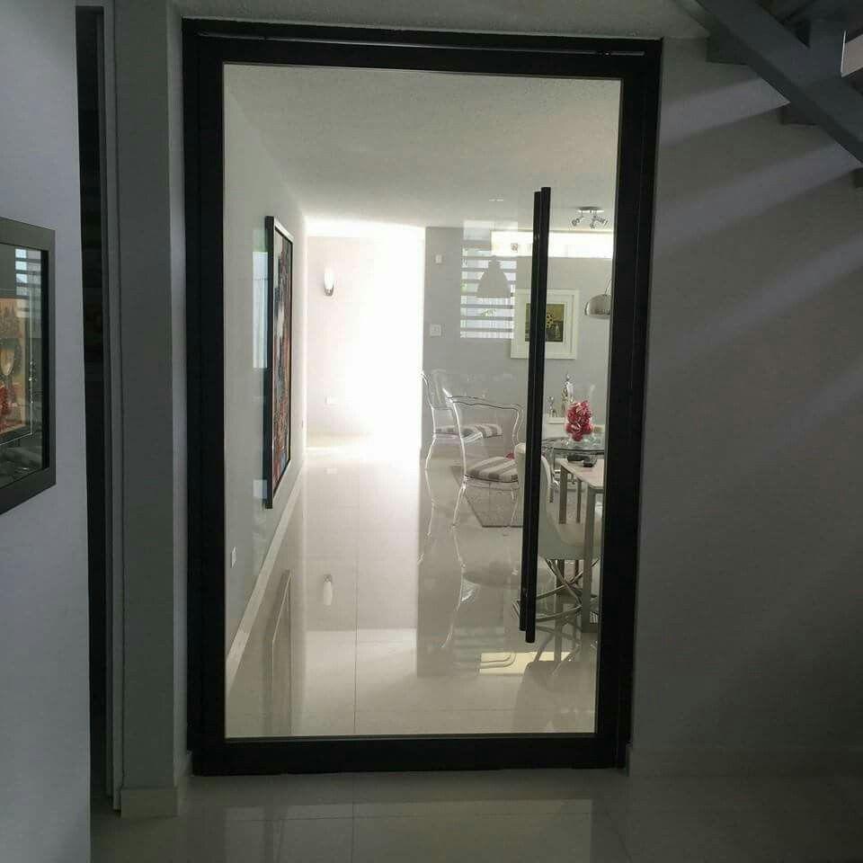 El Minimanie Ventanas: Puerta Full Glass. Cristal Templado Con Handle Integrado