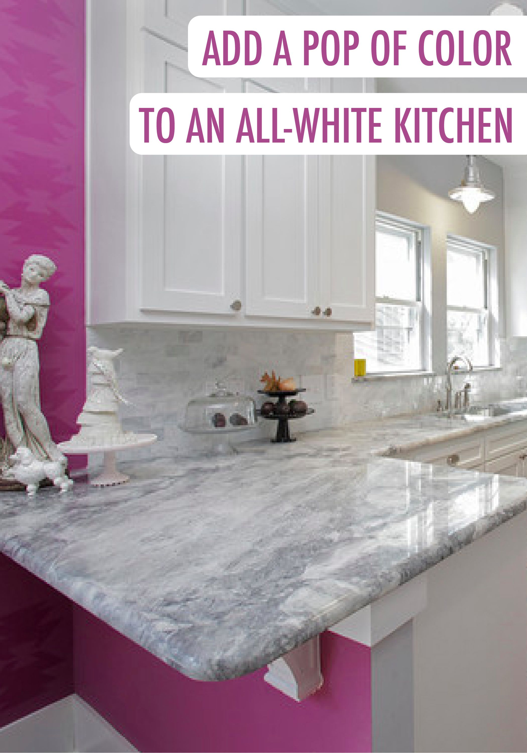 All Pink Kitchen With A Splash Of Behr Paint In Chinchilla Your Modern Allwhite