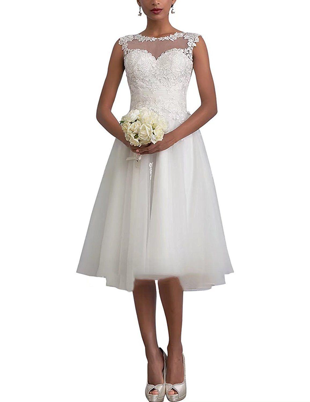Carnivalprom Damen Sheer Spitze Hochzeitskleid Brautkleid Elegant ...