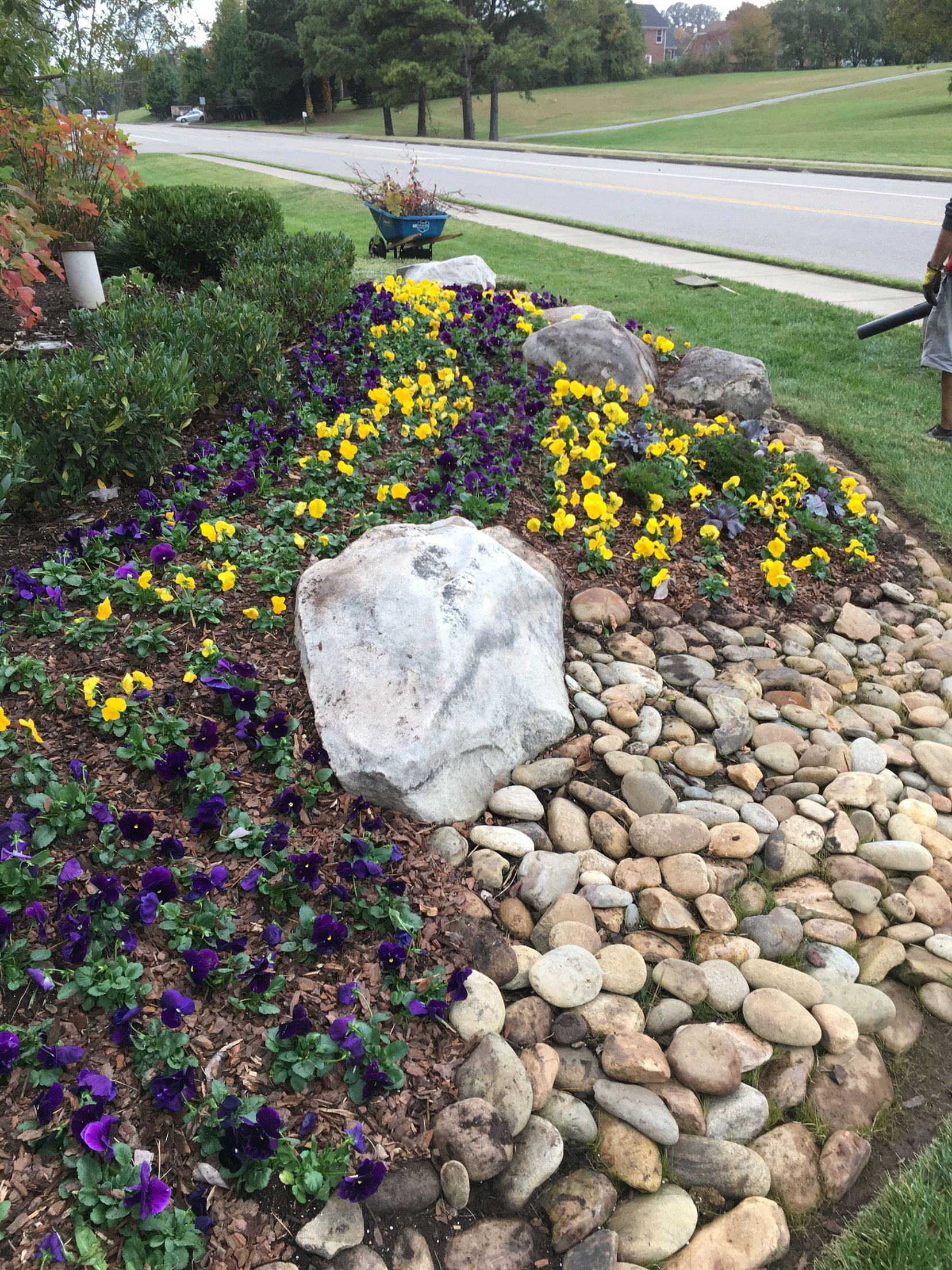 Nice Fall Landscaping Ideas Front Yard Part - 5: Fall Landscaping , Front Entrance To A Subdivision