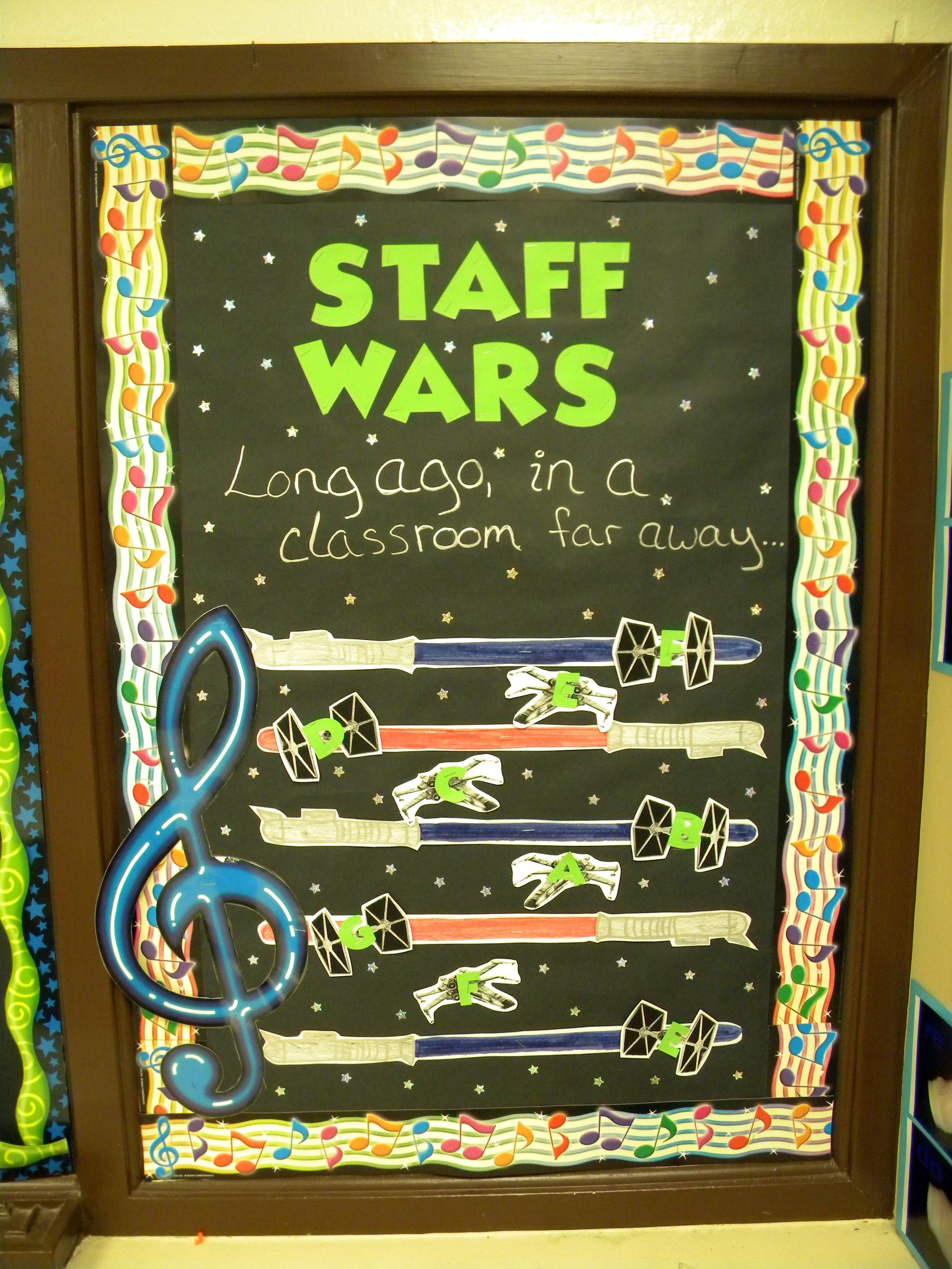 Music Classroom Bulletin Boards Staff Wars
