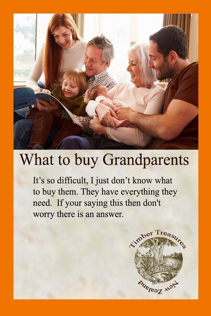 Be organized. Help with What to buy Grandparents