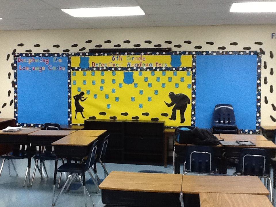 Classroom Decor Pdf ~ Mystery classroom theme classrooms pinterest