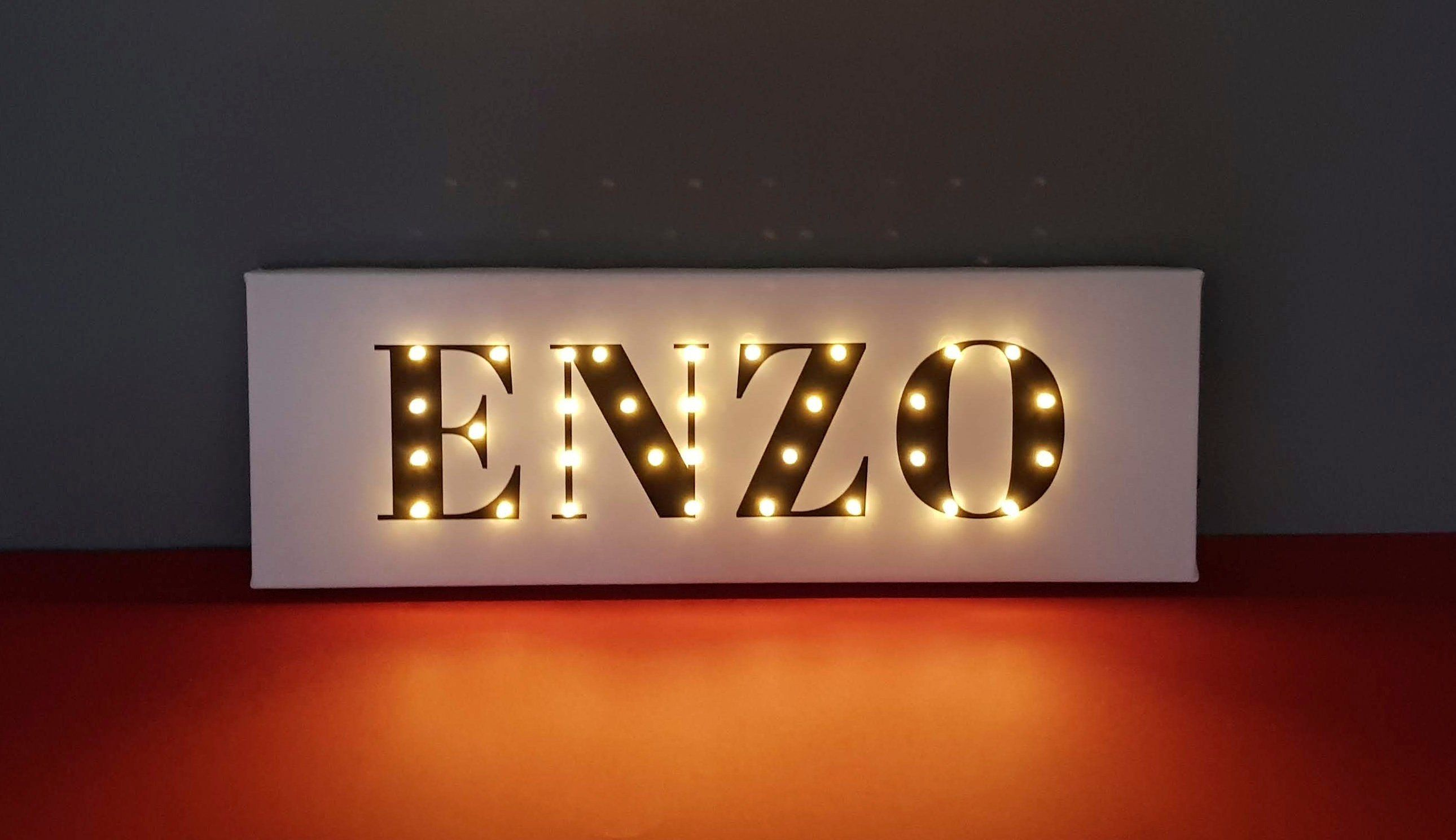 Name Sign With Lights Personalized Name Sign Nursery Light Etsy