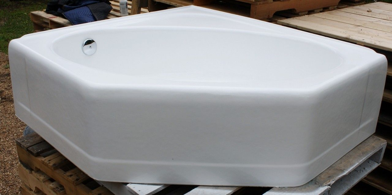 1950\'s Alcove Tub 48 X 44 Porcelain over Cast Iron Refinished in ...