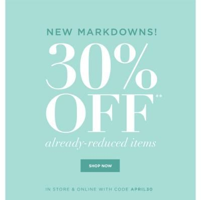 Club Monaco Reduces Sale Items By An Extra 30%