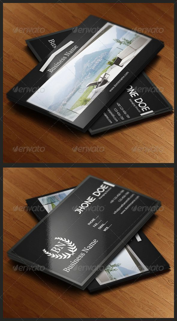 Real Estate Business Card | Real estate business, Business cards and ...