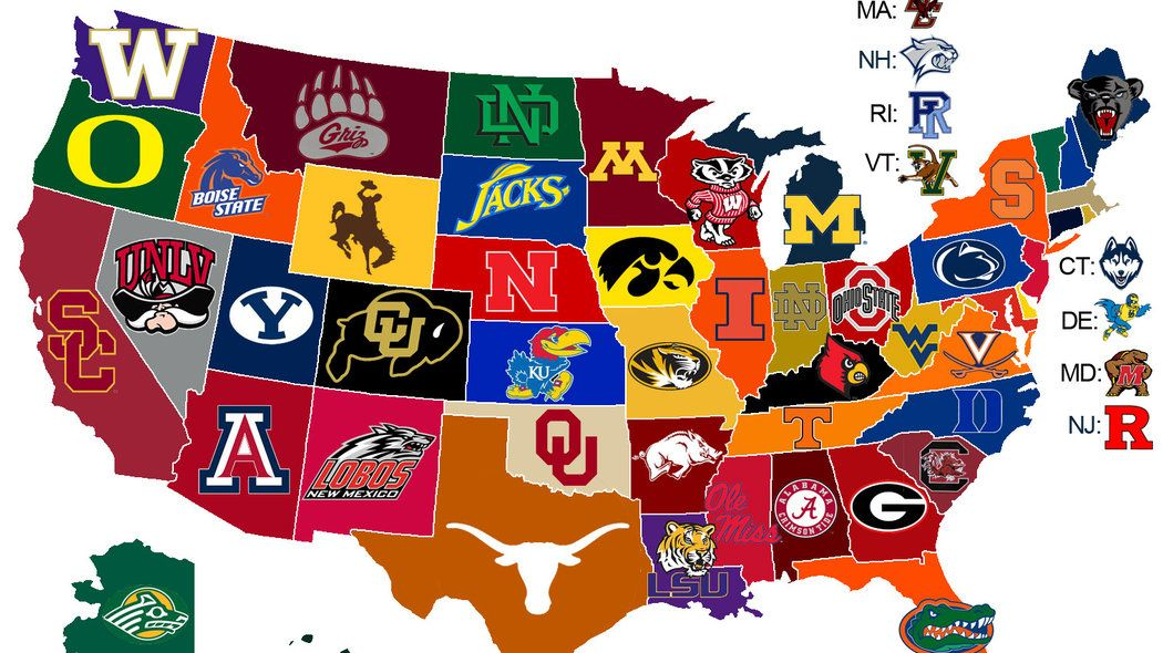 25 Maps That Explain College Football College Football Map