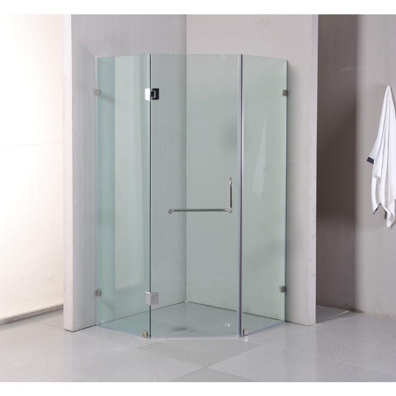 Frameless Glass Shower Enclosure 900x900x2000mm | Buy Shower Screens ...