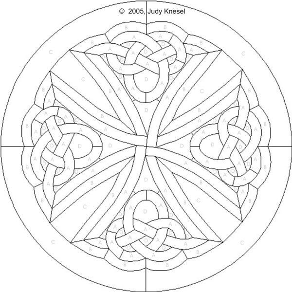 Celtic mosaic coloring pages ~ Celtic Cross | Celtic | Celtic stained glass, Stained ...