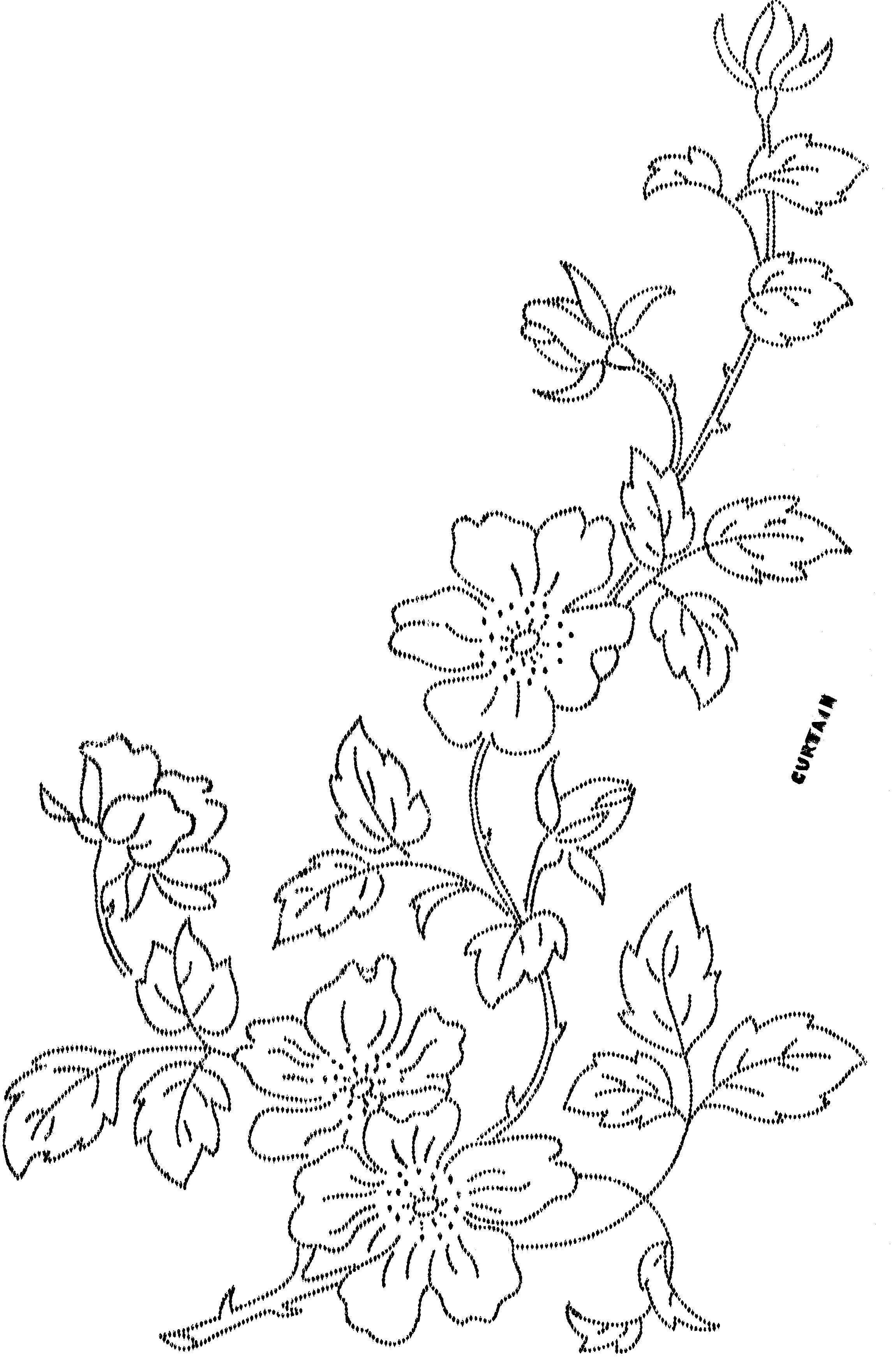 All sizes flower design 14 flickr photo sharing haine vintage wild rose embroidery transfer or pattern for curtains etc bankloansurffo Images