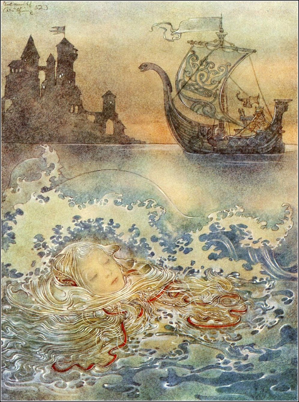 Hans Christian Andersen The Little Mermaid Die Kleine Seejungfrau Wuppertal Elberfeld 1953 Illustrated By Sulamith Art Fairytale Art Mermaid Illustration